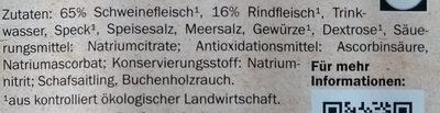 traditionelle Wiener - Ingrédients