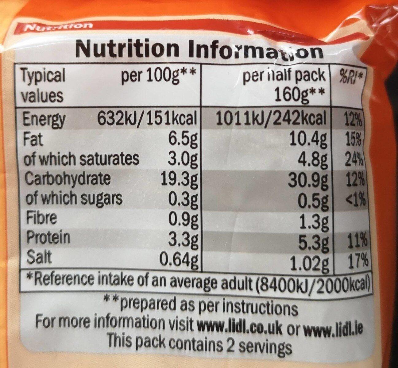 Instant noodles Beef flavour - Nutrition facts
