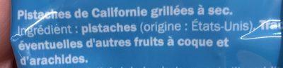 Pistaches Grillées à Sec sans sel ajouté - Ingrediënten - fr