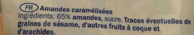 Amandes caramélisées - Ingredients
