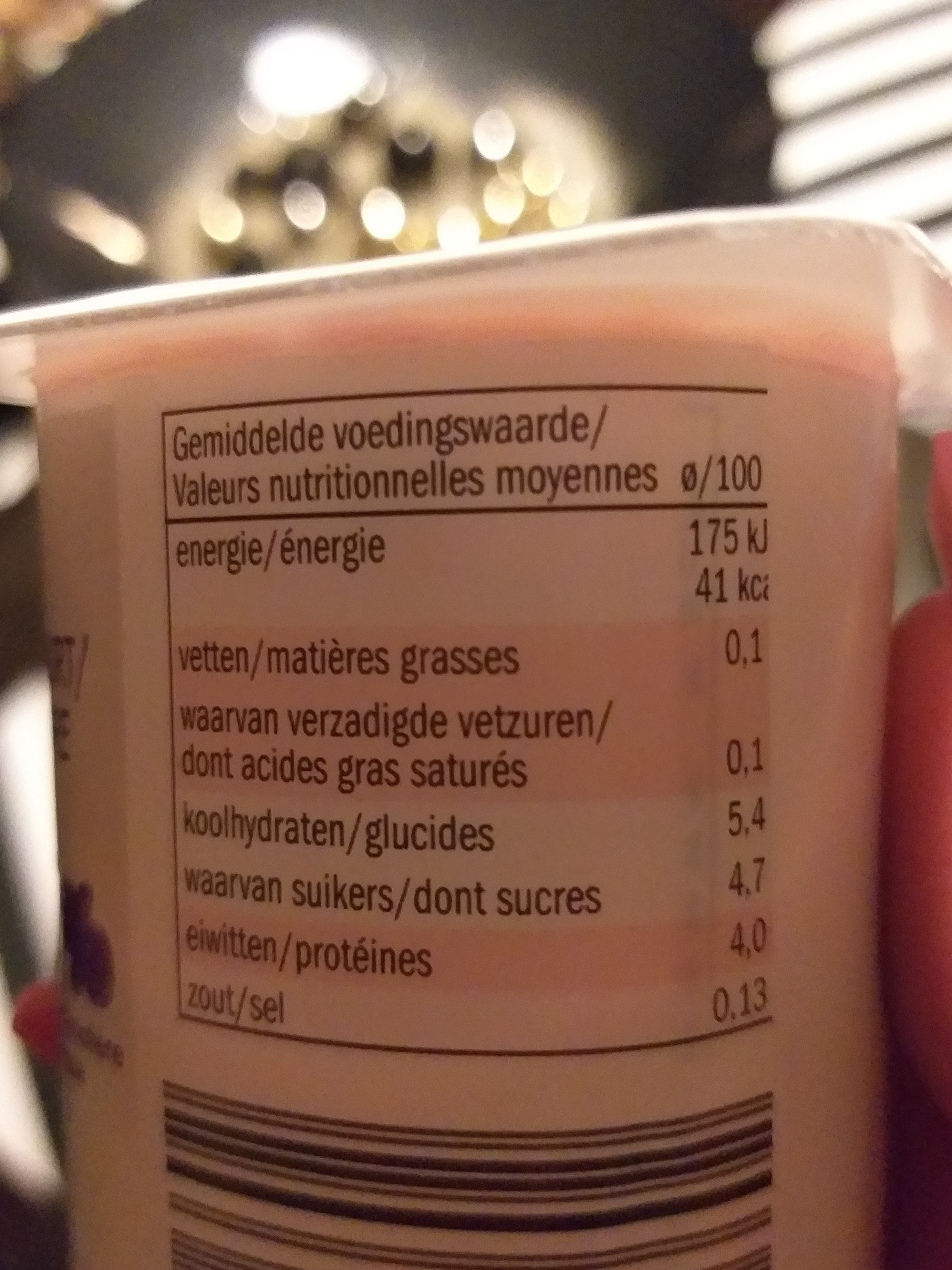 Yaourt maigre - Voedingswaarden - fr