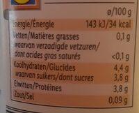 Yaourt maigre aux fraises - Voedingswaarden - fr