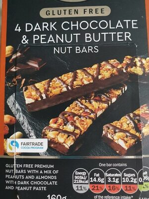 Dark chocolate and peanut butter bars - Product - en
