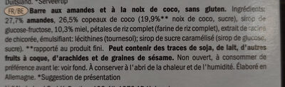 Gluten free nut bar - Ingrédients - fr