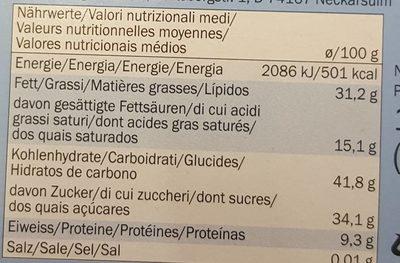 Gluten free nut bar - Informations nutritionnelles - fr