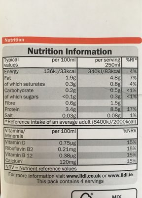 Just free, Soya unsweetened - Informations nutritionnelles - fr