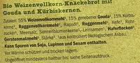 Bio Knäckebrot - Ingredienti - de