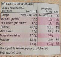 Bio crackers - Informació nutricional - en