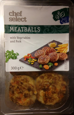 Meatballs with vegetables and pork - Produit