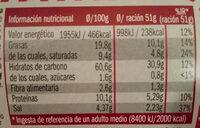 Yatá - Nutrition facts