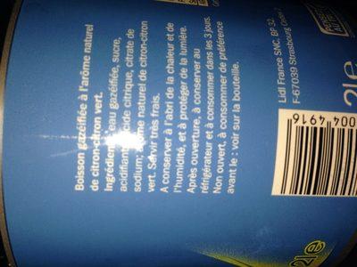 Limonade - Inhaltsstoffe