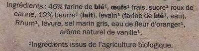 Brioche tranchée pur beurre - Ingrédients - fr