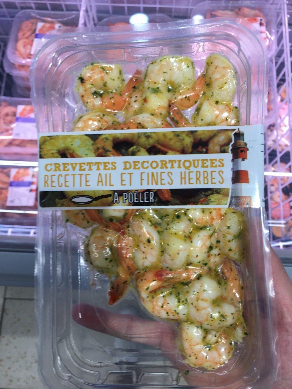 Crevettes decortiquees a poiler ail et fines herbes - Product - fr