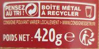 Cassoulet - Instruction de recyclage et/ou informations d'emballage - fr