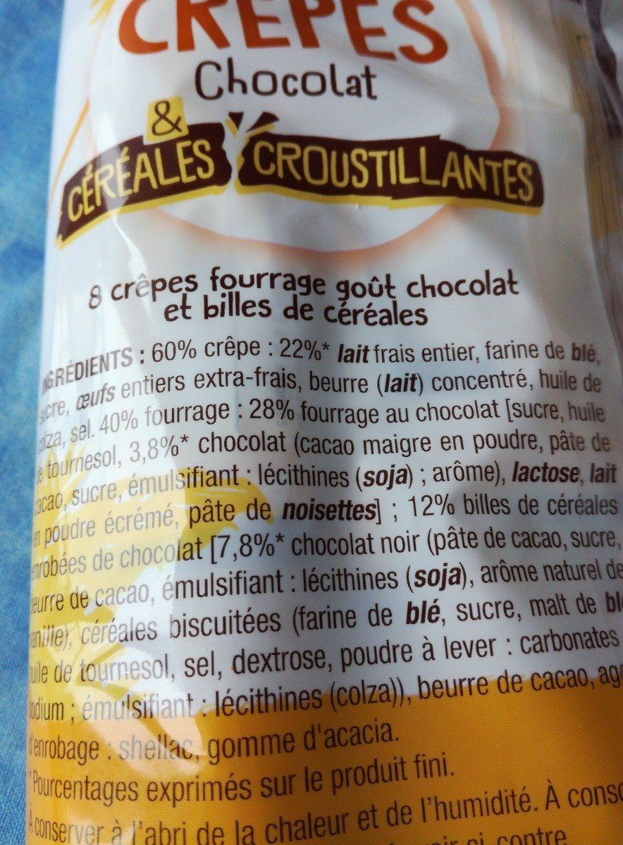 Crêpes chocolat - Ingredients
