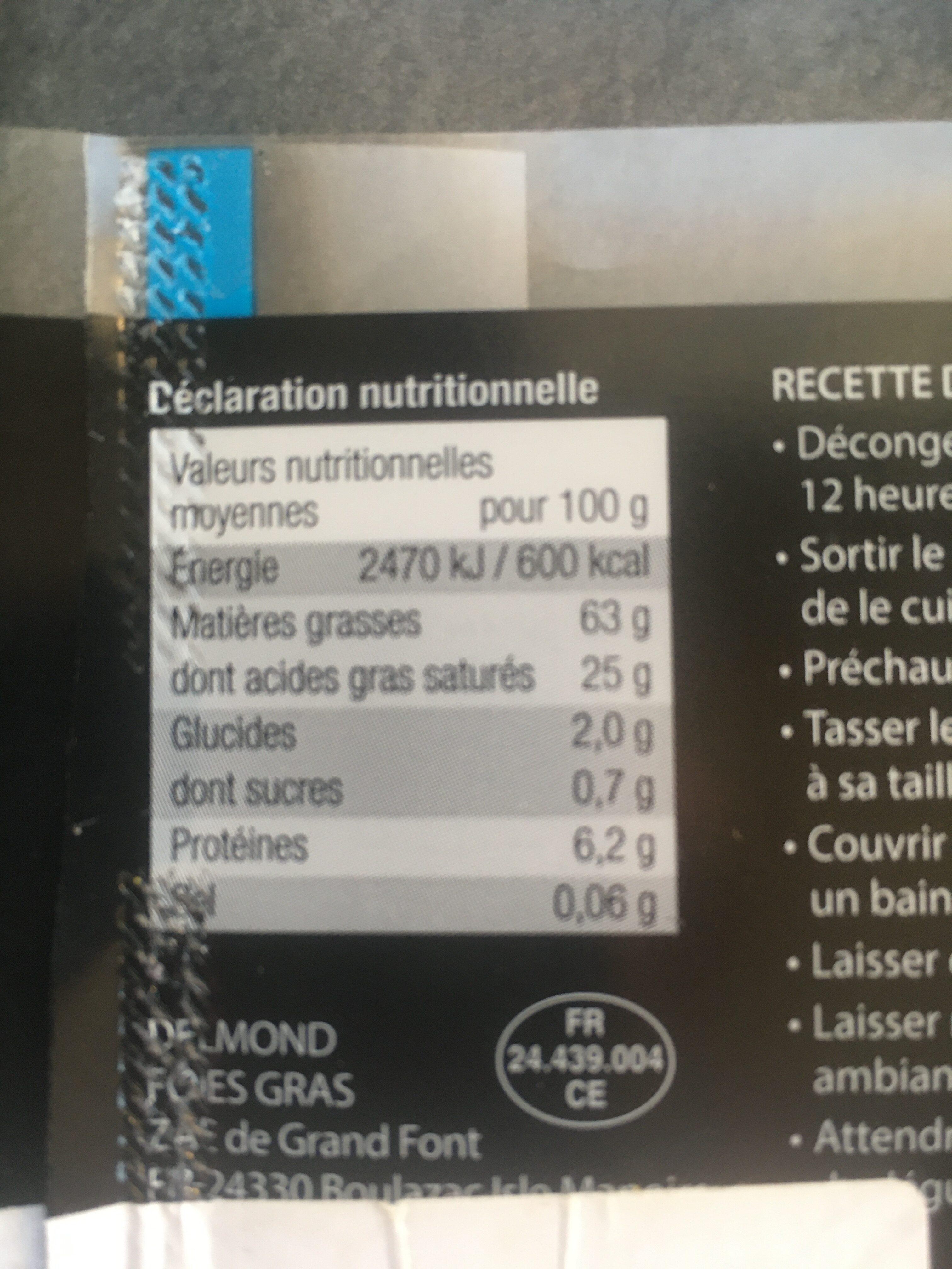 Foie gras de canard sud ouest - Ingredients - fr