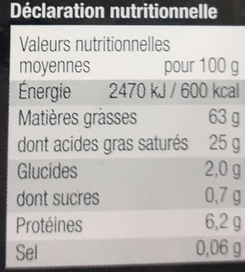 Foie gras de canard sud ouest - Nutrition facts - fr