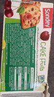 Cake fruits - Informations nutritionnelles - fr