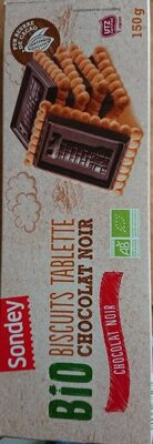 Sondeyq bio biscuits tablette chocolat noir - Prodotto - fr