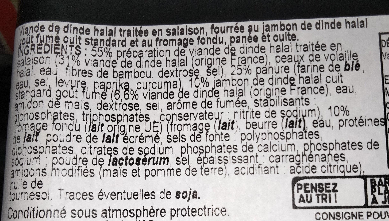 Cordon bleu de dinde - Ingrédients - fr