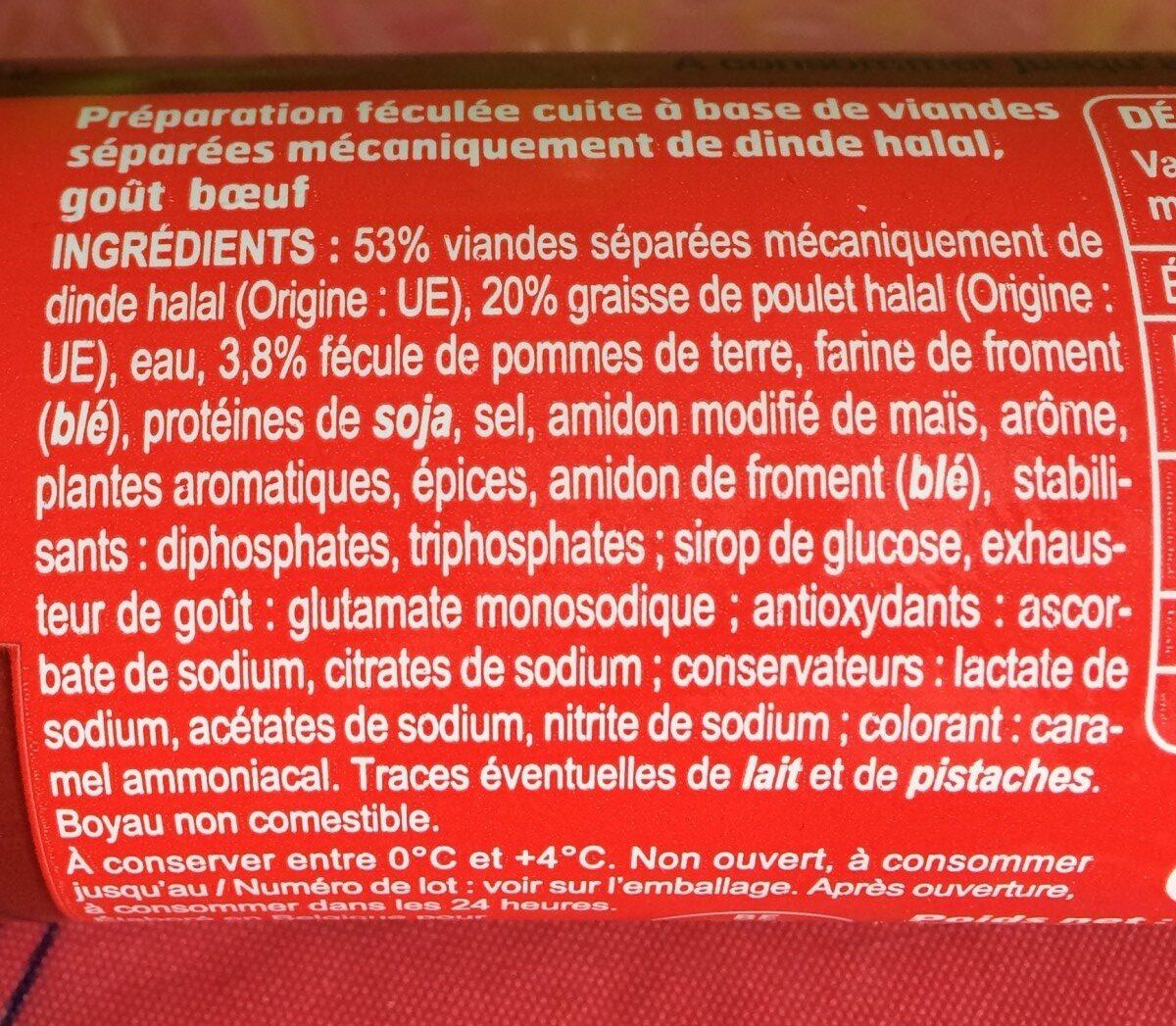 Halal cachir goût boeuf - Ingredients