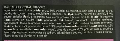 Tarte Chocolat & éclats d'amandes - Ingredients