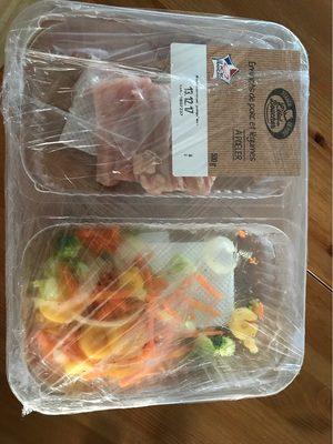 Emincés de porc et legumes a poeler - Product