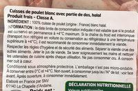 Cuisses de poulet halal - Ingrédients - fr
