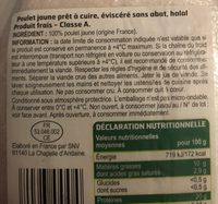 Poulet Jaune Halal - Ingredients - fr