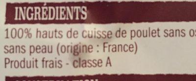Pavés de poulet sans os - Ingrédients - fr