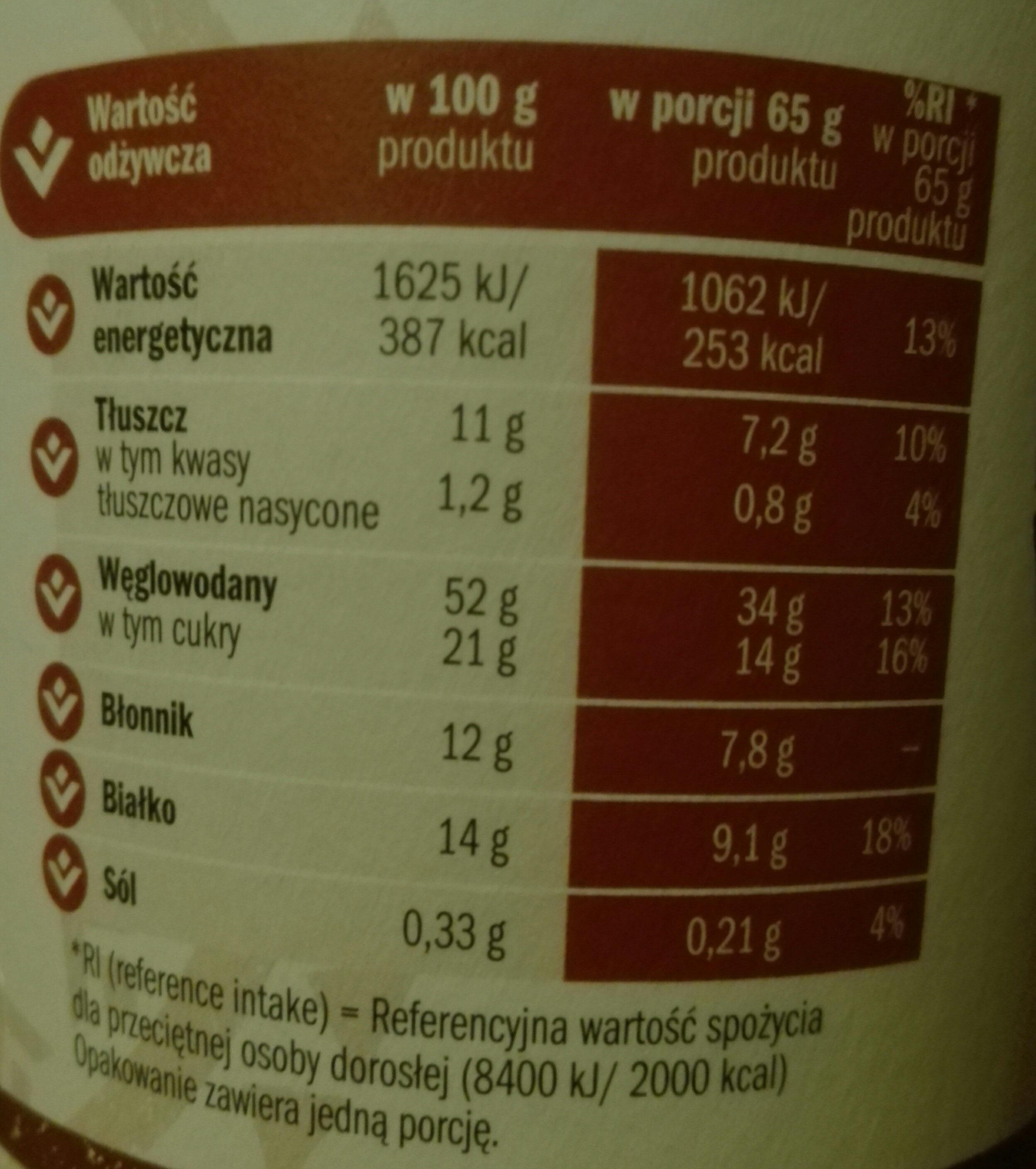 owsianka z płatkami jęczmiennymi - Wartości odżywcze - pl