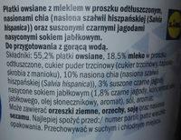 Owsianka z nasionami chia - Składniki - pl