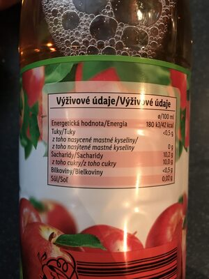Apple juice - Výživové údaje - cs