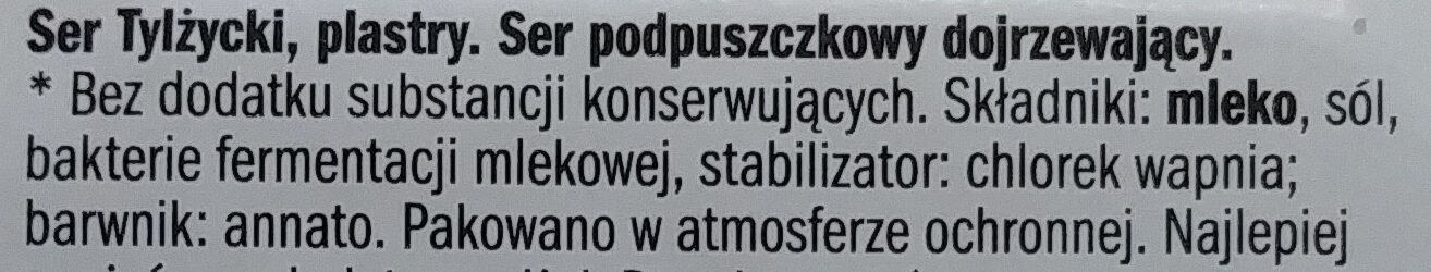Ser Tylżycki, plastry. - Ingredients - pl