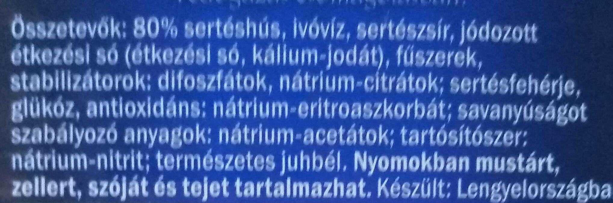 Bécsi roppanós - Ingrédients - hu