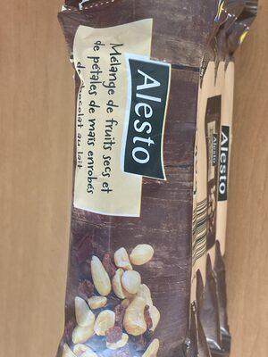 Fruits secs et pétales de maïs enrobés de chocolat au lait - Prodotto - en