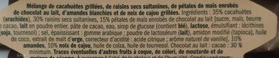 Mélange d'arachides - Ingrediënten