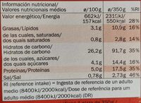 VEGANA - Pizza Bruschetta - Informations nutritionnelles - fr