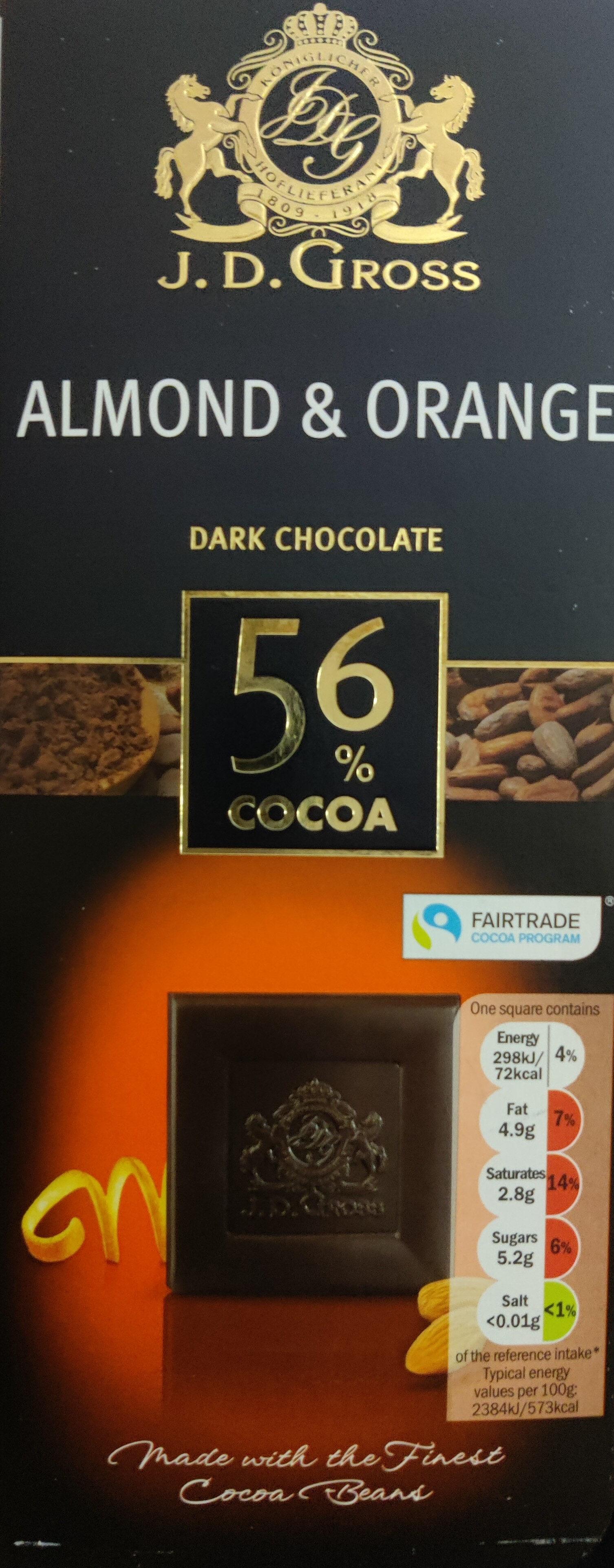 Almond & Orange Dark Chocolate - Product - en