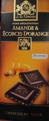 Chocolat noir Amande et écorces d'orange - Product