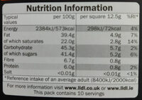 Almond & Orange Dark Chocolate - Nutrition facts - en