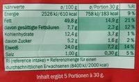 Erdnusskerne Fajita Style geröstet & gewürzt - Nährwertangaben - de
