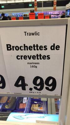Trawlic brochettes de crevettes marinees - Product