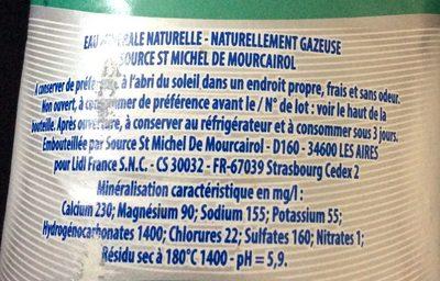 Eau minerale naturelle, naturellement pétillante - Ingrediënten - fr