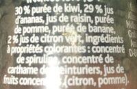smoothie kiwi, ananas & citron vert - Ingrédients - fr
