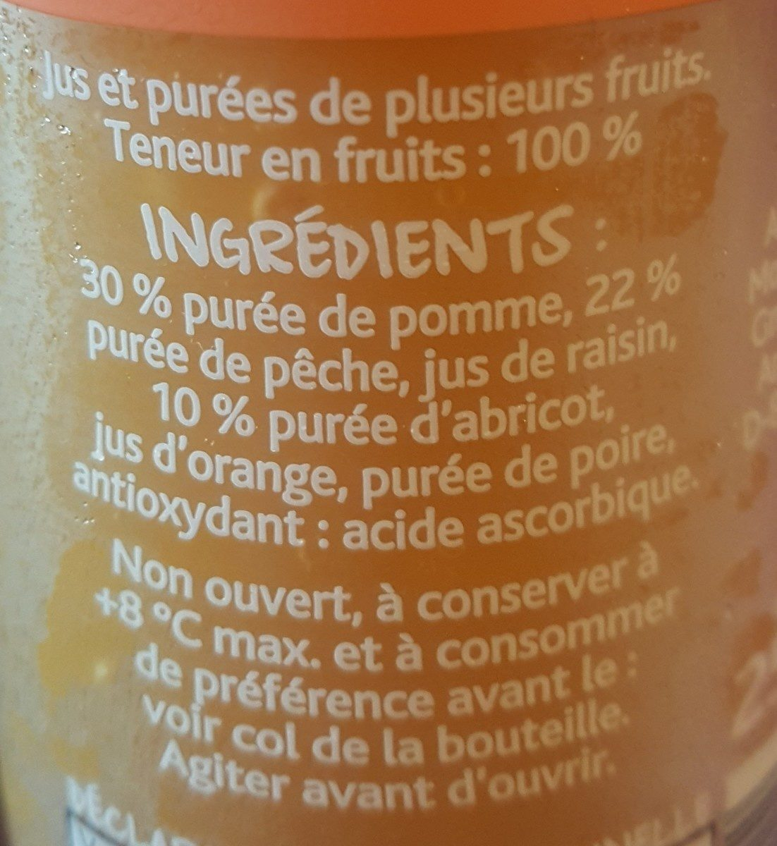 Smoothie pomme, pêche, abricot - Ingrediënten - fr