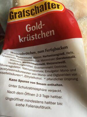Weizenbrötchen - Ingrédients - fr