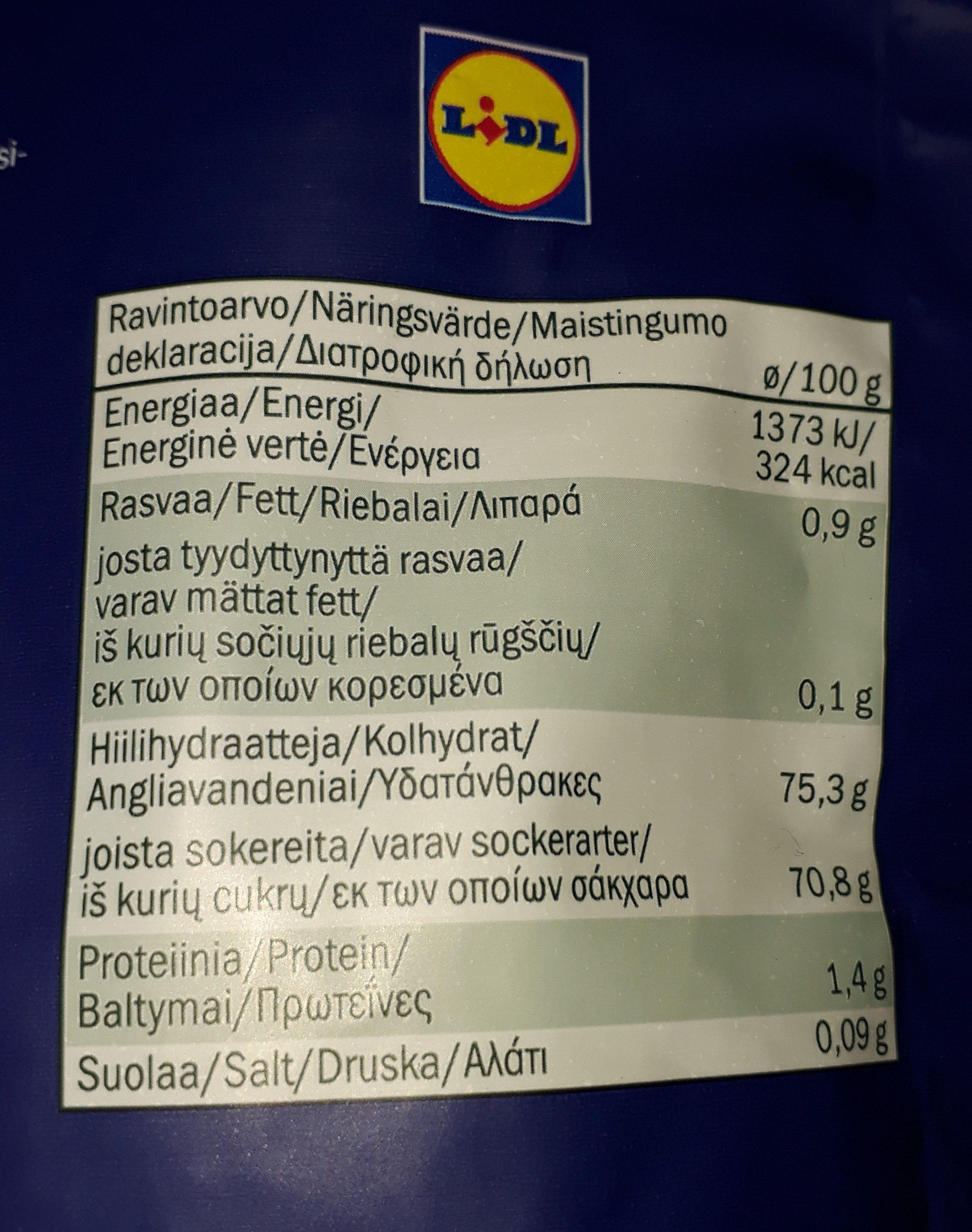 Mix de arándanos y pasas - Nutrition facts - fi