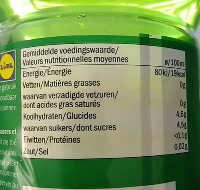 Iced tea green - Informations nutritionnelles