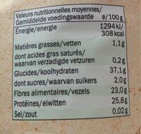 Lentilles vertes bio - Voedingswaarden - fr